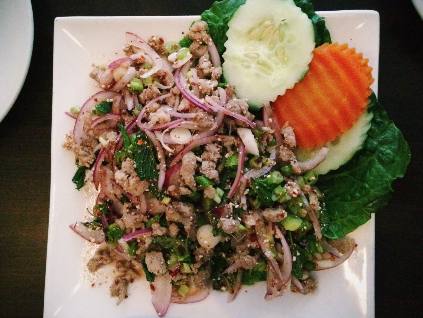 Larb Moo at Zabb Elee
