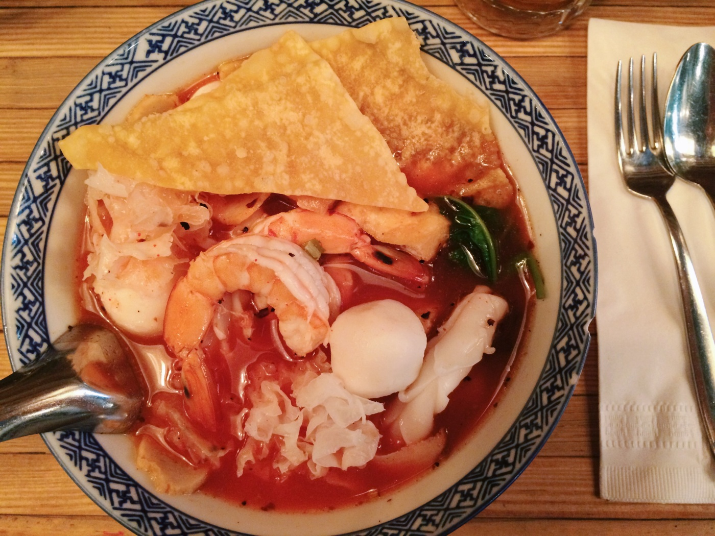 Krabi Seafood Noodles Soup (Yen Ta Fo) at Pure Thai Cookhouse